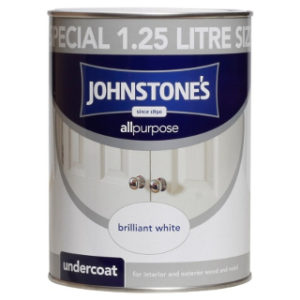 1.25LT BRILLIANT WHITE UNDERCOAT JOHNSTONE'S PAINT