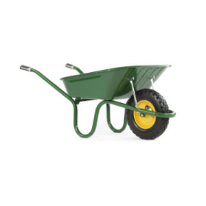 GREEN PUNCTURE FREE WHEELBARROW
