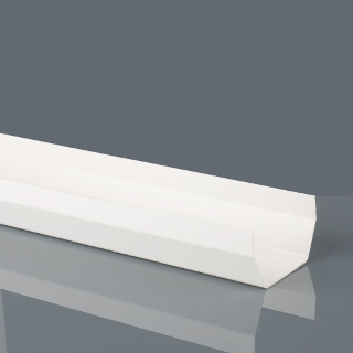 4 m 114 mm SQUARE GUTTER WHITE BRETT MARTIN