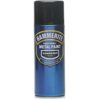 400ml HAMMERED BLACK AEROSOL HAMMERITE