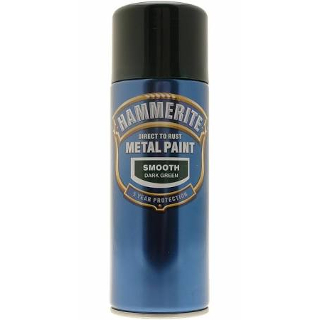 400ml SMOOTH DARK GREEN AEROSOL HAMMERITE