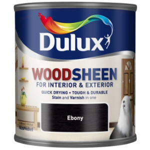 250ml EBONY WOODSHEEN DULUX