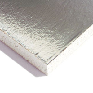 2400mm X 1200mm 12.5mm FOIL BACKED PLASTERBOARD