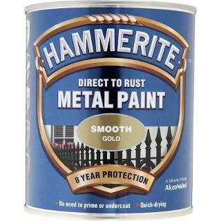 250ml.GOLD SMOOTH HAMMERITE
