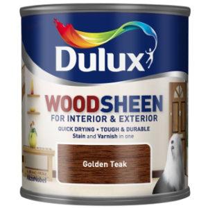 250ml GOLDEN TEAK WOODSHEEN DULUX