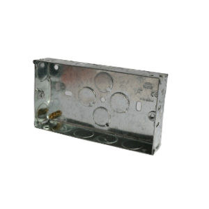2 GANG 25MM METAL BOX