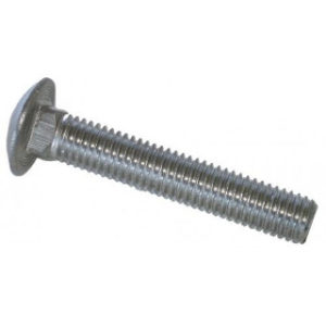 PK 2 M10 x 50mm CUP SQU BOLTS A2 STAINLESS STEEL