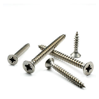BOX 100 4 x 50mm WOOD SCREWS A2 STAINLESS STEEL