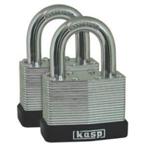 TWIN PK 40mm LAMINATED PADLOCKS KASP SECURITY
