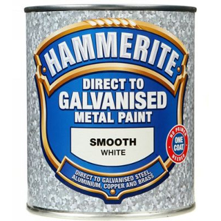 750ml WHITE DIRECT TO GALV HAMMERITE