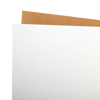 1220mm X 913mm WHITE FACED HARDBOARD / MDF