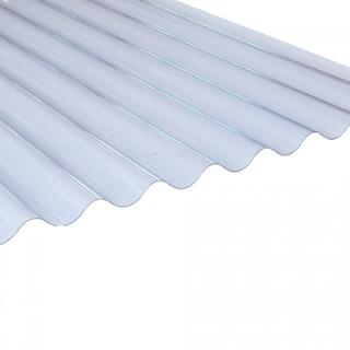 2440mm x 662mm MINI CLEAR CORRUGATED PVC