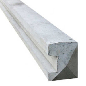 2360mm END CONCRETE FENCE POST