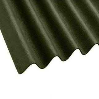2mt x 950mm GREEN BITUMEN ROOFING