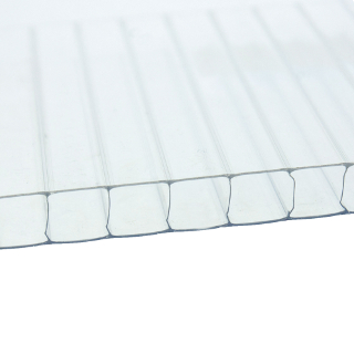 2.5mt x 1050mm x 10mm CLEAR TWINWALL POLYCARBONATE