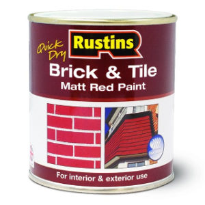 250ml. RUSTINS MATT RED BRICK & TILE PAINT