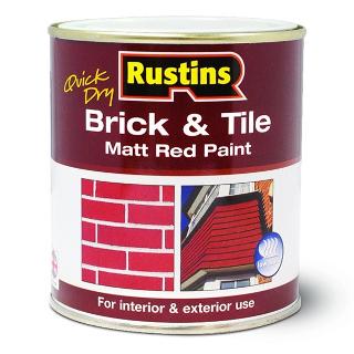 250ml. RUSTINS MATT RED BRICK & TILE PAINT