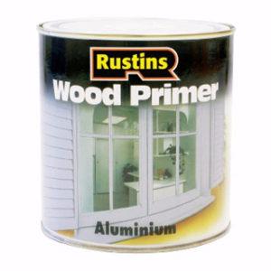 500ml. RUSTINS ALUMINIUM WOOD PRIMER