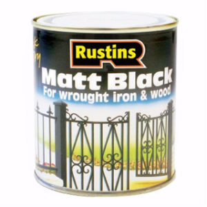 250ml RUSTINS BLACK MATT PAINT