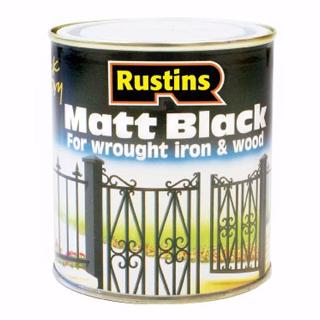 500ml RUSTINS BLACK MATT PAINT