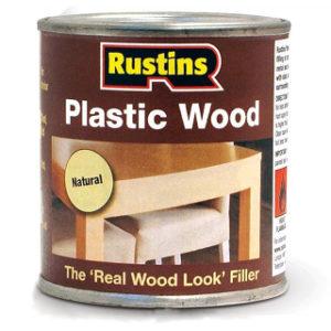 125ml. RUSTINS NATURAL PLASTIC WOOD