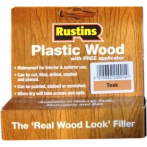 SMALL TUBE RUSTINS TEAK PLASTIC WOOD