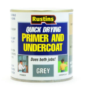 500ml. RUSTINS Q/D GREY PRIMER UNDERCOAT