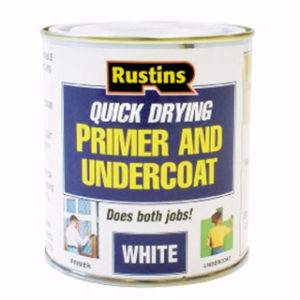 500ml. RUSTINS WHITE PRIMER & UNDERCOAT