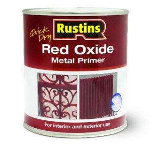 500ml. RUSTINS RED OXIDE PRIMER