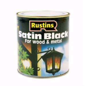 250ml. RUSTINS SATIN BLACK PAINT