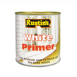 500ml. RUSTINS WHITE WOOD PRIMER
