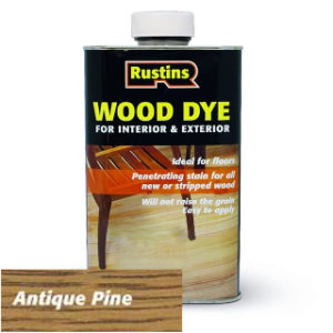 250ml ANTIQUE PINE WOOD DYE RUSTINS