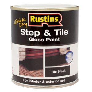 250ml. BLACK STEP & TILE PAINT RUSTINS