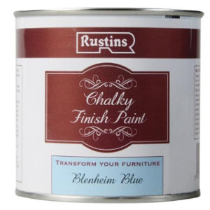 250ml. BLENHEIM BLUE CHALKY FINISH PAINT RUSTINS