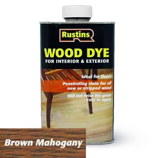 250ml BROWN MAHOGANY WOOD DYE RUSTINS