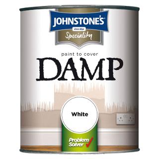 750ml WHITE DAMP PROOF JOHNSTONE'S PAINT
