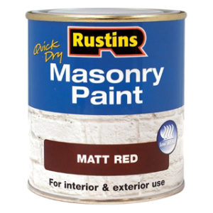 250ml. RED MATT MASONRY PAINT RUSTINS