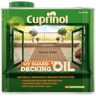 2.5L NATURAL CEDAR DECKING OIL CUPRINOL