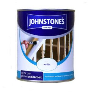 750ml WHITE QUICK DRY PRIMER UNDERCOAT PRIMER JOHNSTONE'S PAINT