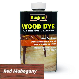 250ml RED MAHOGANY WOOD DYE RUSTINS