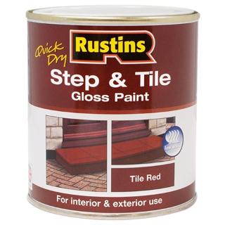 500ml. RED STEP & TILE PAINT RUSTINS
