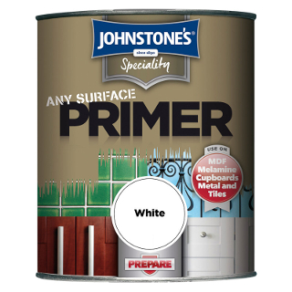 250ml WHITE ANY SURFACE PRIMER JOHNSTONE'S PAINT