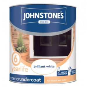 750ml WHITE EXTERIOR UNDERCOAT JOHNSTONE'S PAINT