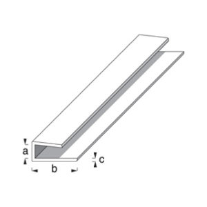 1m x 15mm WHITE PLASTIC EDGE PROFILE ROTHLEY