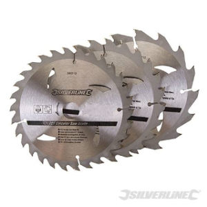 Pk. 3 150mm x 20-16, 12.75mm RINGS CIRCULAR SAW BLADES