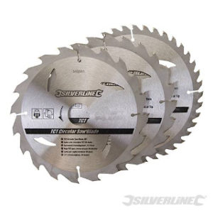 Pk. 3 190mm x 30-25, 20mm RINGS CIRCULAR SAW BLADES