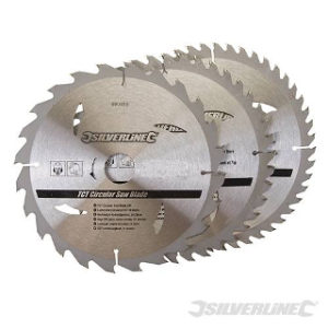 Pk. 3 210mm x 30-25, 16mm RINGS CIRCULAR SAW BLADES