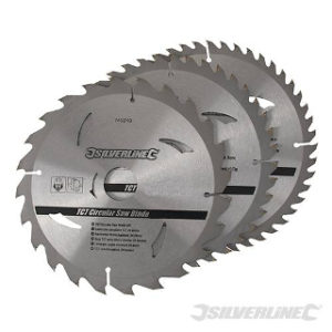 Pk. 3 200mm x 30-25, 18, 16mm RINGS CIRCULAR SAW BLADES