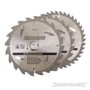Pk. 3 184mm x 30-20, 16mm RINGS CIRCULAR SAW BLADES