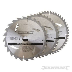 Pk. 3 230mm x 30-25, 20, 16mm RINGS CIRCULAR SAW BLADES